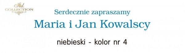 Kolor nadruku na zaproszeniu 04 - NIEBIESKI