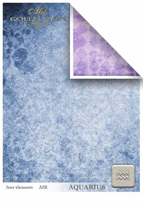 Scrapbooking papeles en sets - cuatro elementos - aire*Бумага для скрапбукинга в наборах - четыре элемента - воздух
