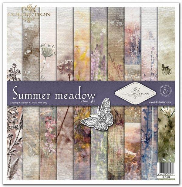 Zestaw papierów do scrapbookingu - Summer meadow
