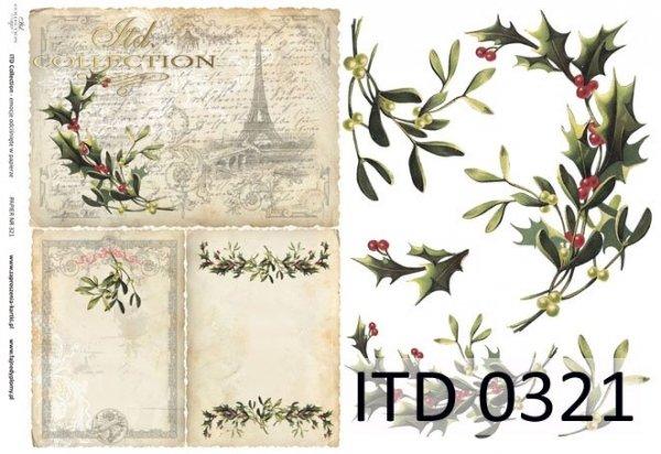 Papier decoupage ITD D0321M