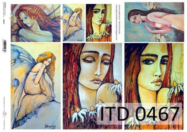 Papier decoupage ITD D0467
