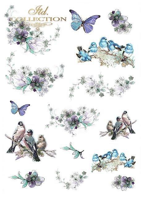 Zestawy-papierow-do-scrapbookingu-zestaw-Lato-w-blekitach-SCRAP-046-02-ptaszki-motylki-akwarelowe-kwiatki-mediowe-struktury-tla-struktury-farb-desek-spekalin-crak