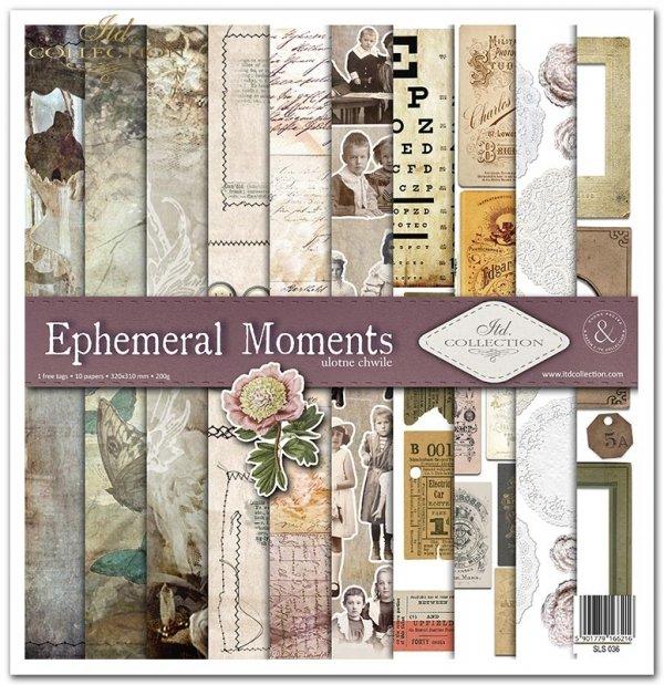 Zestaw papierów do scrapbookingu - Ephemeral Moments