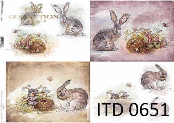 Papier decoupage ITD D0651