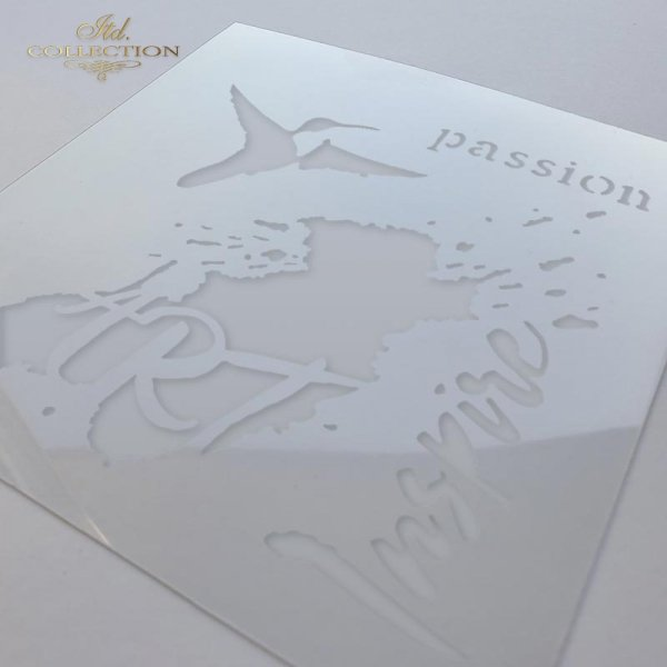 Szablon ST0006 - Koliber, kleks, Art. Passion, Inspire