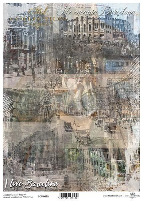 papel de scrapbooking ciudad vieja*скрапбукинг бумага старый город*Alte Stadt des Scrapbookingpapiers