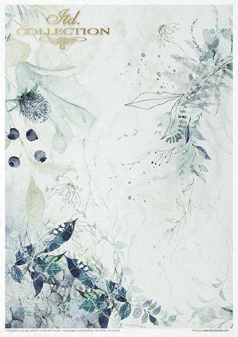 Set creativo sobre papel de arroz - El mundo de la porcelana de hielo*Kreativset auf Reispapier - Die Welt des Eisporzellans*Креативный набор на рисовой бумаге - Мир ледяного фарфора