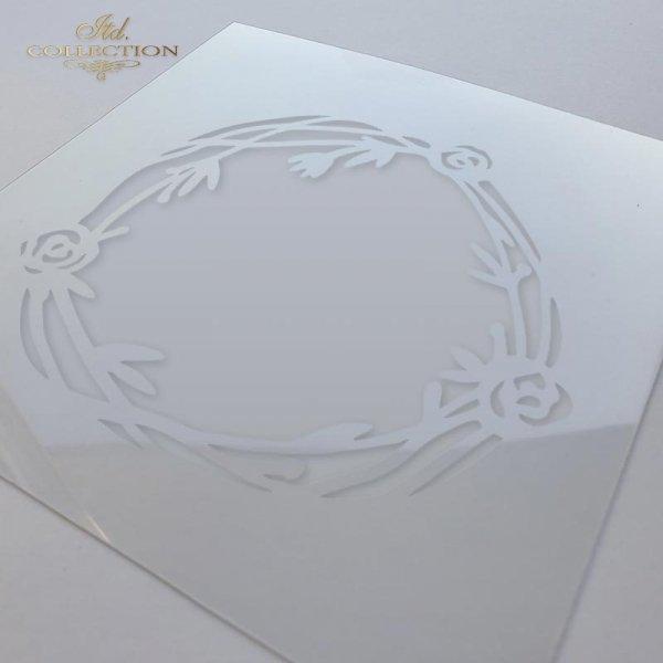 ST0017 - ramka, tło z różyczek