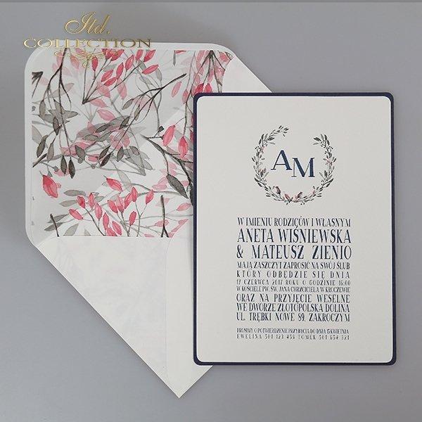 Zaproszenia ślubne*zaproszenia w odcieniu szarości*dodatki ślubne*winietki*menu