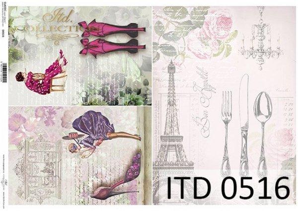 Papier decoupage ITD D0516