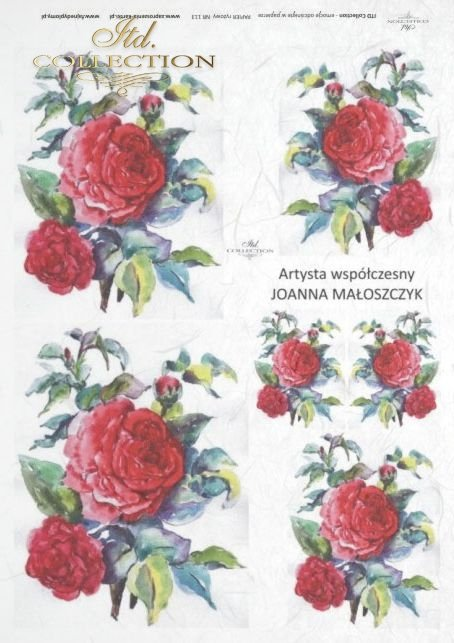 decoupage-painting-Joanna-Maloszczyk-flower-bud-buds-leaves-rose-roses-garden-R0113