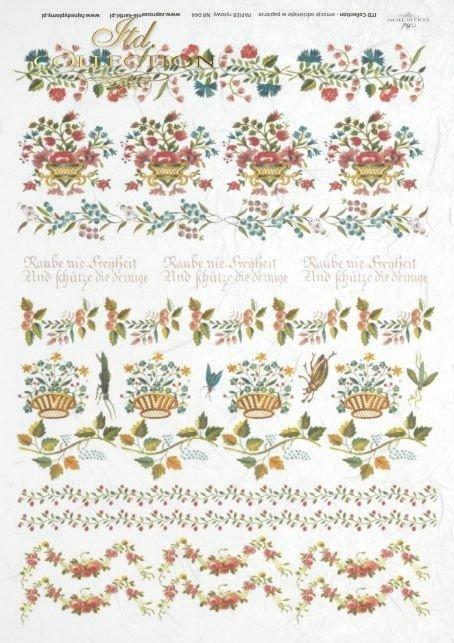 flower, flowers, decoration, decorations, ornament, ornaments, floral decorations, small elements, R044