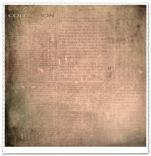 Papier do scrapbookingu - stara gazeta, Statua Wolności*Papier für das Scrapbooking - alte Zeitung, die Freiheitsstatue