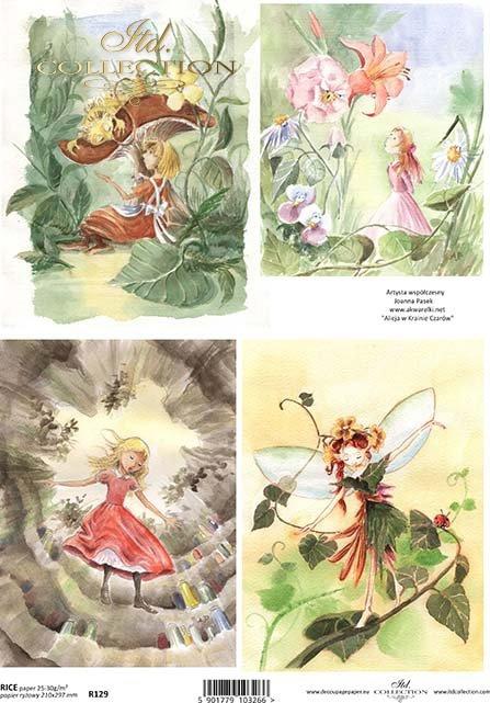 rice-paper-decoupage-elf-elves-Alice-in-Wonderland-fairy-tale-Joanna-Pasek-R0219