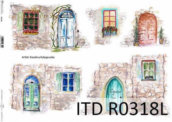 okna, drzwi, kamienny mur, artysta współczesny Martyna Kubajewska*windows, doors, stone wall, contemporary artist Martyna Kubajewska