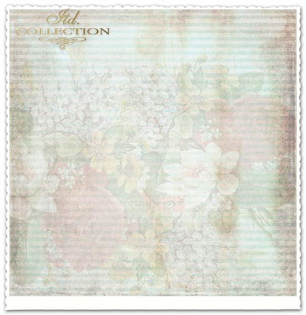 papier do scrapbookingu, ozdobna ramka, kwiaty*Scrapbooking paper, decorative frame, flowers