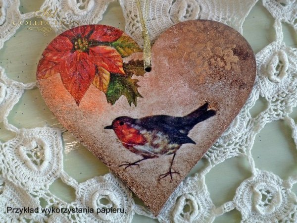 ITD Collection, decoupage, scrapbooking, winter-bird-birds - example 2