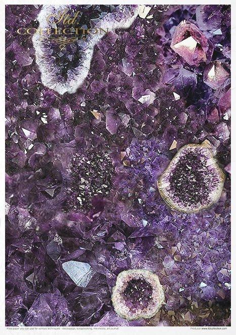Juego creativo en papel de arroz - Gemas*Kreativ-Set auf Reispapier - Edelsteine*Творческий набор на рисовой бумаге - Драгоценные камни