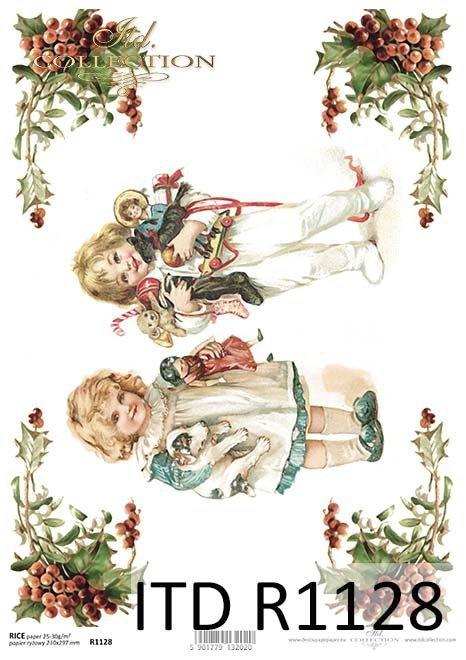 papier decoupage Boże Narodzenie, Dzieci, prezenty...*Paper decoupage christmas, kids, gifts ...