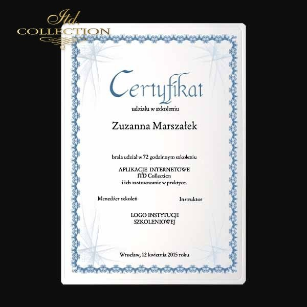 dyplom DS0333 certyfikat