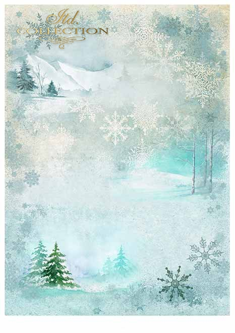 Papiery do scrapbookingu w zestawach - zima*Papiere für Scrapbooking in Sätzen - Winter