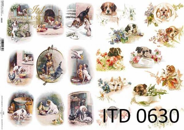 Papier decoupage ITD D0630