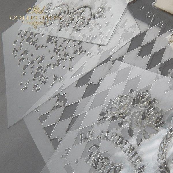 szablon do mix media stencil Schablone plantillas decoupage ST0149B - 1