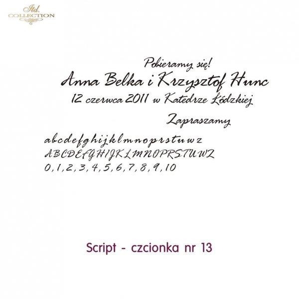 Czcionka na zaproszenie 13