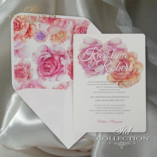 Zaproszenie 2067, zaproszenia ślubne*2067 invitation, wedding invitations