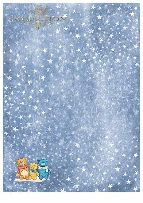 Papiery do scrapbookingu w zestawach - świąteczne zabawki * Scrapbooking-Papiere in Sets - Weihnachtsspielzeug