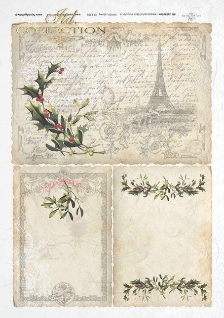 decoupage-scrapbooking-mixed-media-Paris-Eiffel-Tower-winter