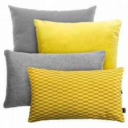 Szaro-żółty zestaw poduszek dekoracyjnych Break