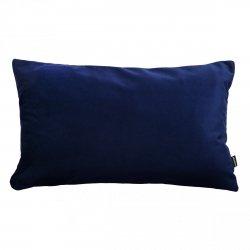 Velvet granatowa poduszka dekoracyjna 50x30