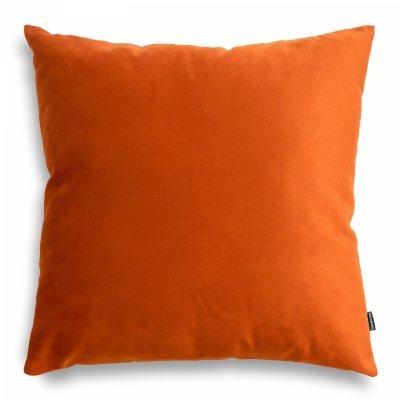 Pram Pomarańczowa welurowa poduszka dekoracyjna 45x45 cm