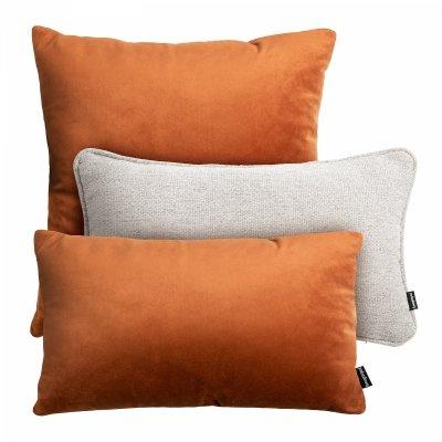Rudy zestaw poduszek dekoracyjnych Terra + Velvet