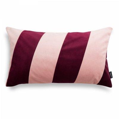 Stripes bordowo różowa poduszka dekoracyjna 50x30