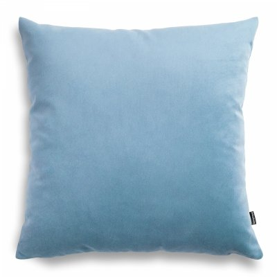 Pram błękitna welurowa poduszka dekoracyjna 45x45 cm