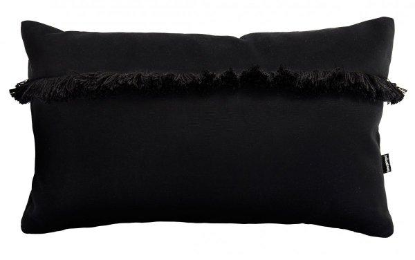 Welurowa poduszka dekoracyjna z frędzlami