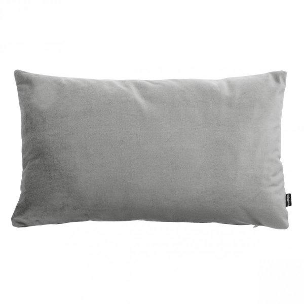 Velvet szara poduszka dekoracyjna 50x30