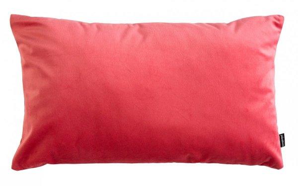 Velvet koralowa poduszka dekoracyjna 50x30