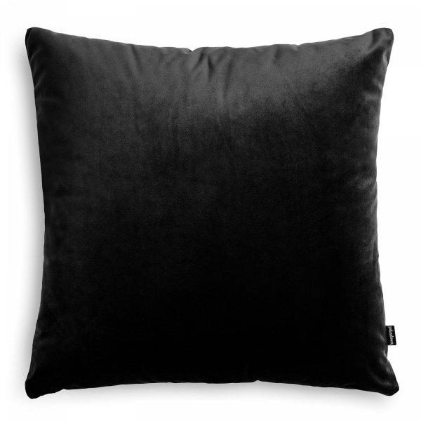 Velvet czarna poduszka dekoracyjna 45x45