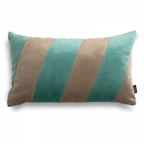 Stripes beżowo miętowa poduszka dekoracyjna 50x30