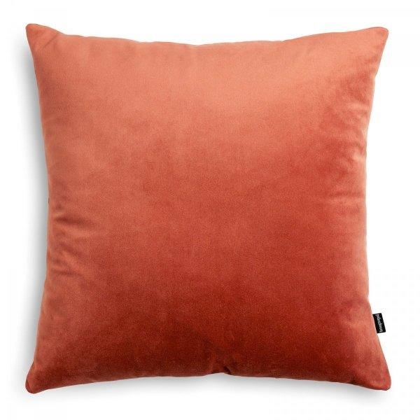 Velvet pomarańczowa poduszka dekoracyjna 45x45
