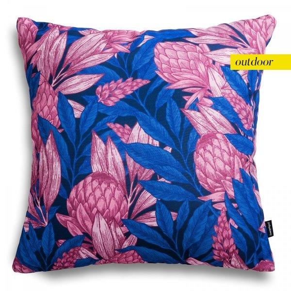 Poduszka ogrodowa różowe liście  45x45