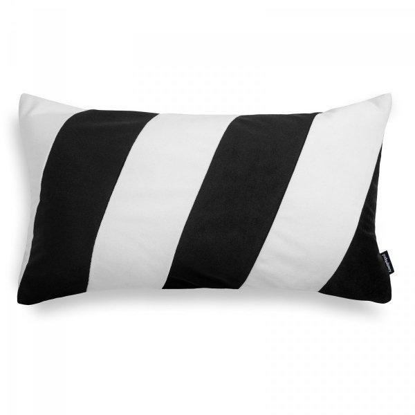 Stripes czarno-biała poduszka dekoracyjna 50x30