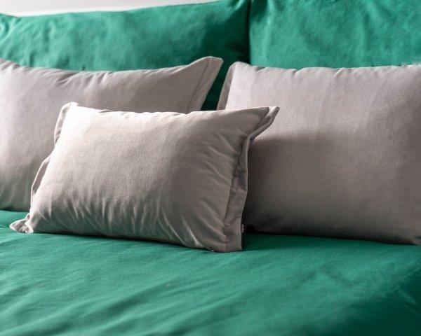 Szary 4 elementowy komplet sypialniany