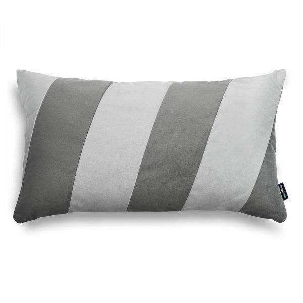 Stripes grafitowo szara poduszka dekoracyjna 50x30