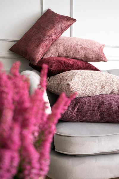 Bergen duża bordowa poduszka dekoracyjna 50x50