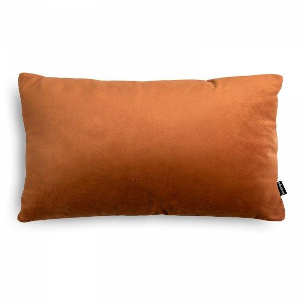 Velvet ruda poduszka dekoracyjna 50x30