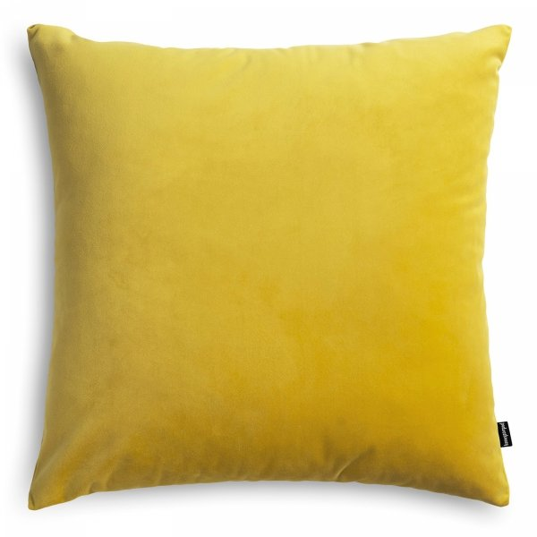 Velvet żółta poduszka dekoracyjna45x45